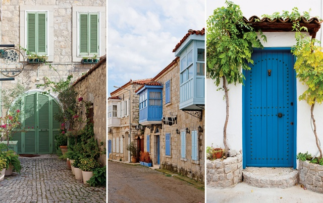 Greek houses in Alacati