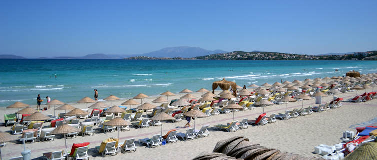 Beach in Cesme Turkey