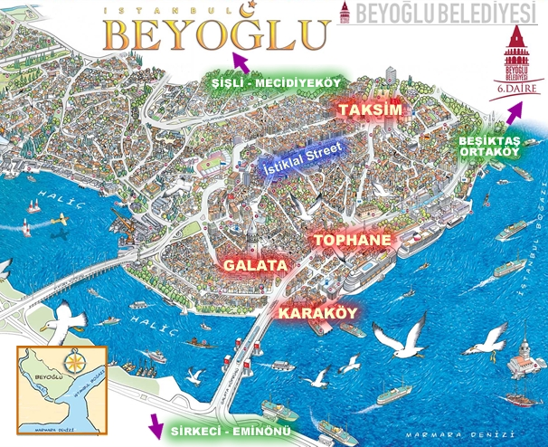 Beyoglu map