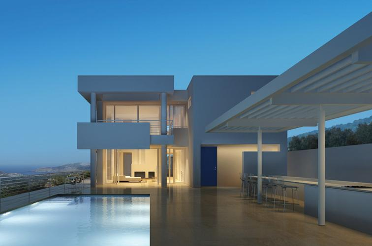 Richard Meier House in Bodrum Yalikavak
