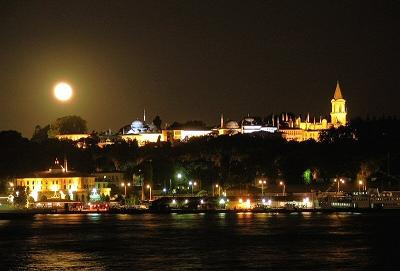 Topkapi Palace Istanbul by night
