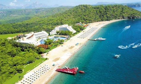 Many Kemer Blue flag beaches in Antalya area