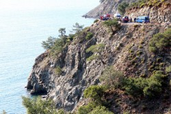 Near death experience leads to nail-biting cliff rescue in Fethiye