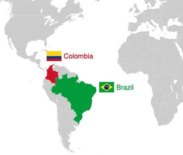Colombia and Brazil real estate