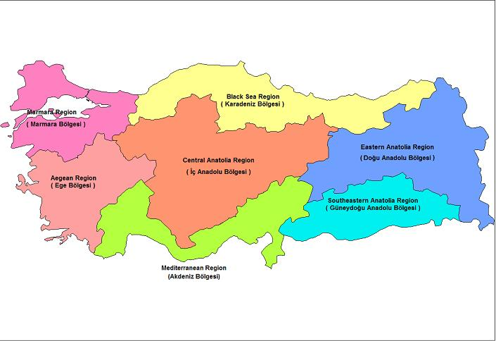 7 Regions of Turkey