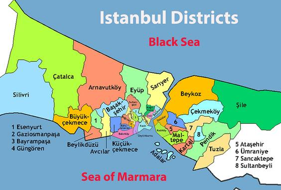 Districts of Istanbul