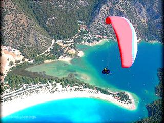 paragliding at oludeniz beach