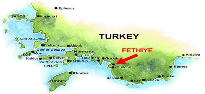 Fethiye map