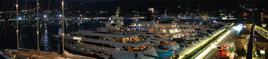 Palmarina Bodrum by night