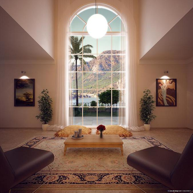 Atrium living room special design Property Turkey