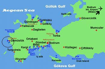 Where is Gumusluk in Bodrum