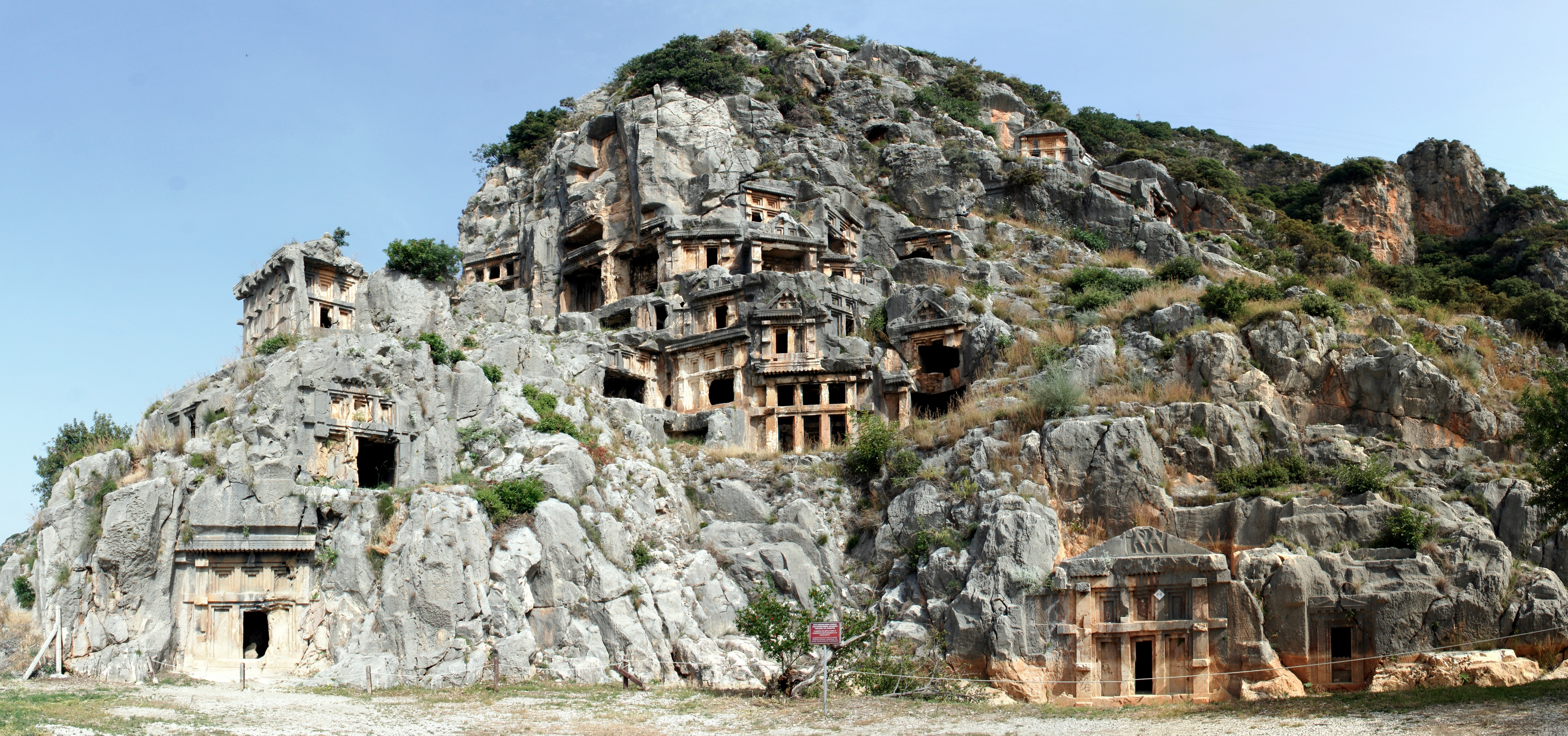 Myra's rock tombs