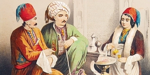 Ottomans making coffee