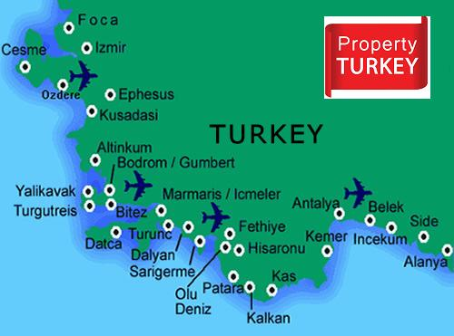 Turkey real estate map