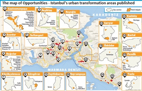 Urban transformation map