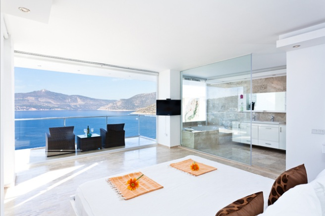 Villas in Kalkan for sale by seafront