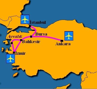 Ayvalik map