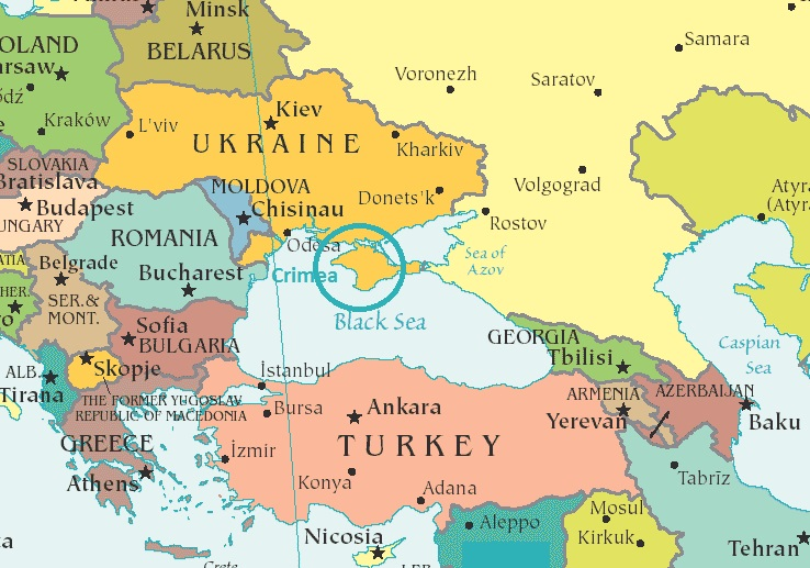 Where is Crimea Ukraine and Turkey