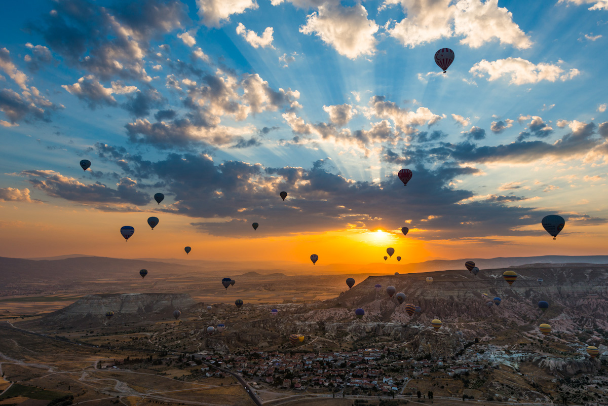 Take to the skies: hot air ballooning in Cappadocia