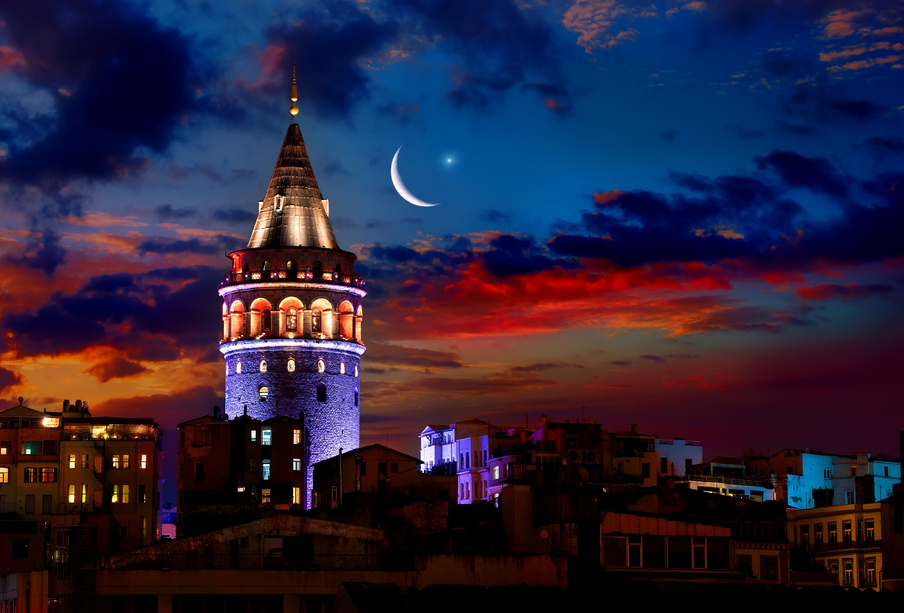 The Galata Tower of Istanbul and the Karakoy District