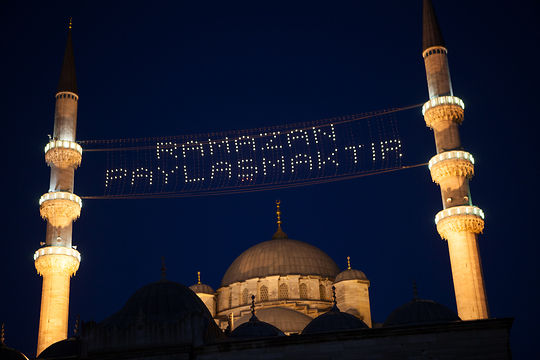 Turkey celebrates Eid, at the mosque and the beach