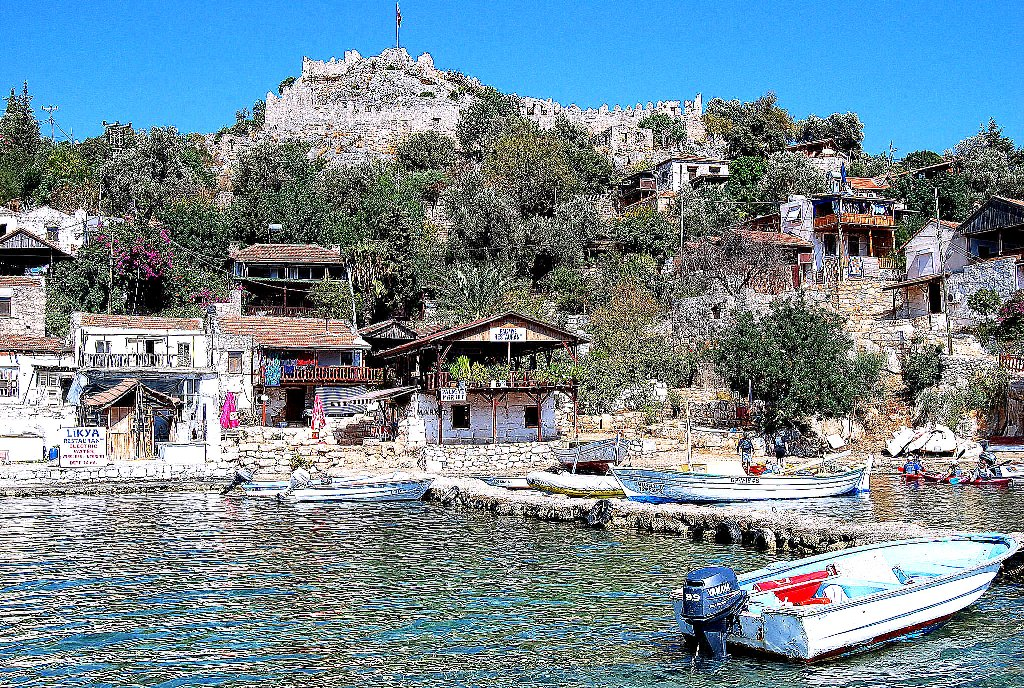 The Sunken Ruins of Kekova and Simena Castle