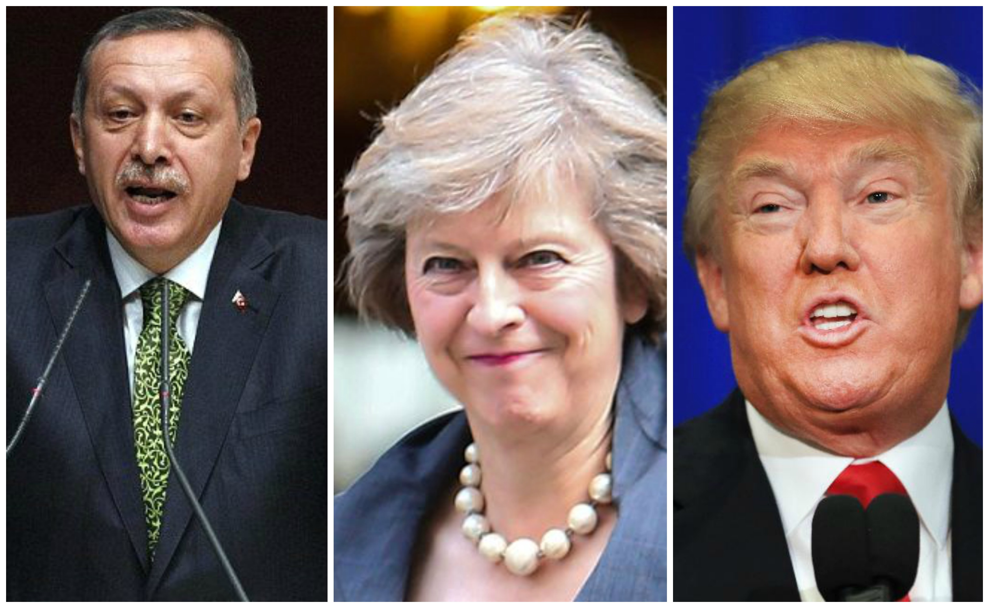 Theresa May courts Erdogan and Trump for post-Brexit trade
