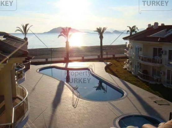 Fethiye villa for sale built with a modern design close to beach