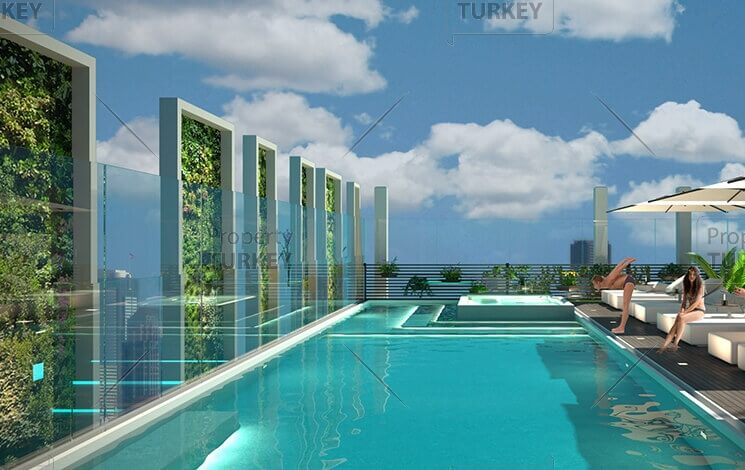 Sustainable building concept in Sisli, Istanbul