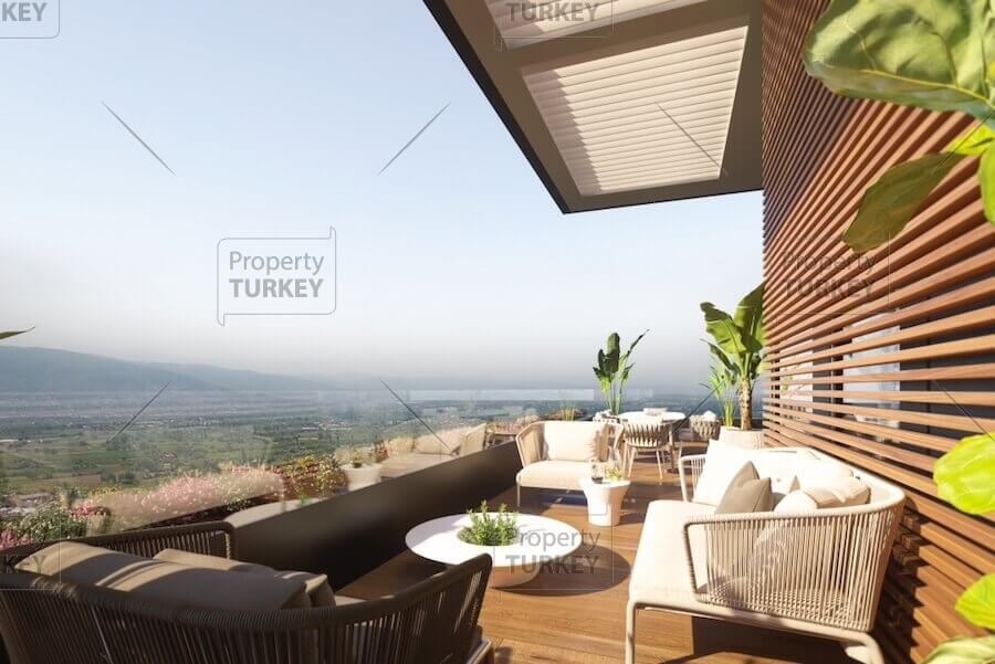 Luxury designer apartments in Bursa with complete facilities