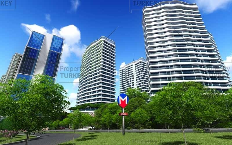 Metro access apartments for sale in Gaziosmanpasa
