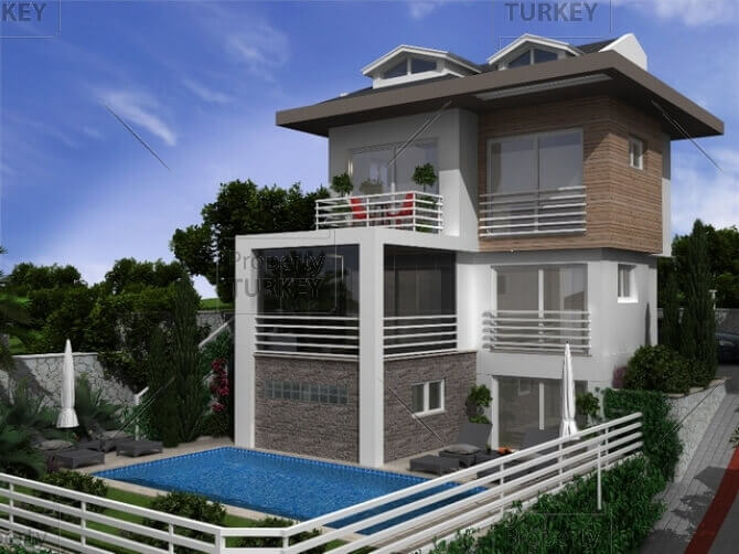 Modern villa in Hisaronu in elite development