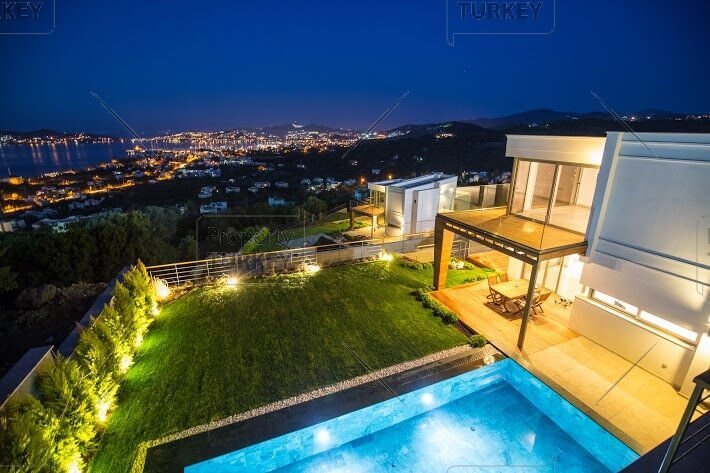 Spectacular view from 5 bed luxury Villa in Yalikavak