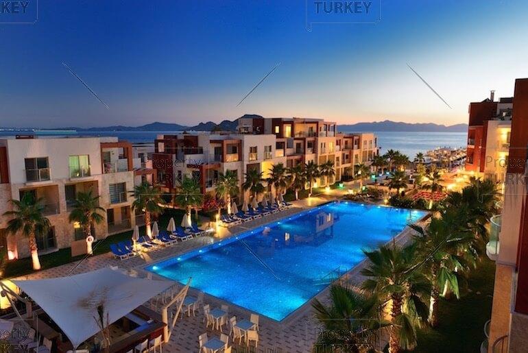 Kadikalesi beach apartments for sale hotel concept