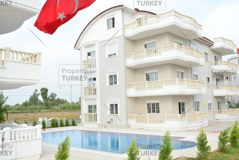 Contemporary Kadriye apartments with pool and gardens