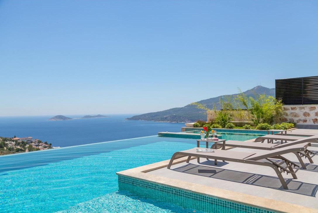 Designer Kalkan sea vista villa ready to move in