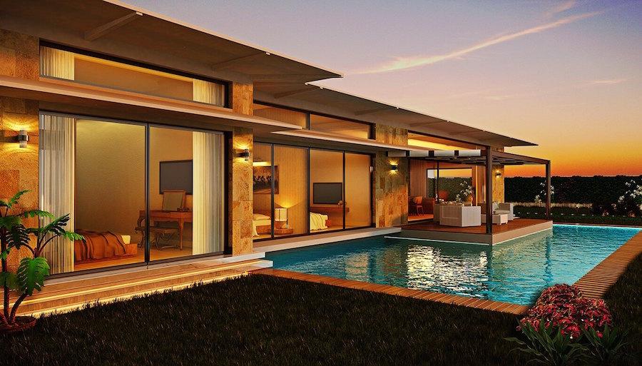Luxury bungalow style villas in Ortakent for sale