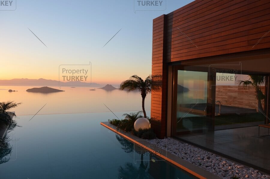 Blue Infinity spectacular designer villa in Bodrum