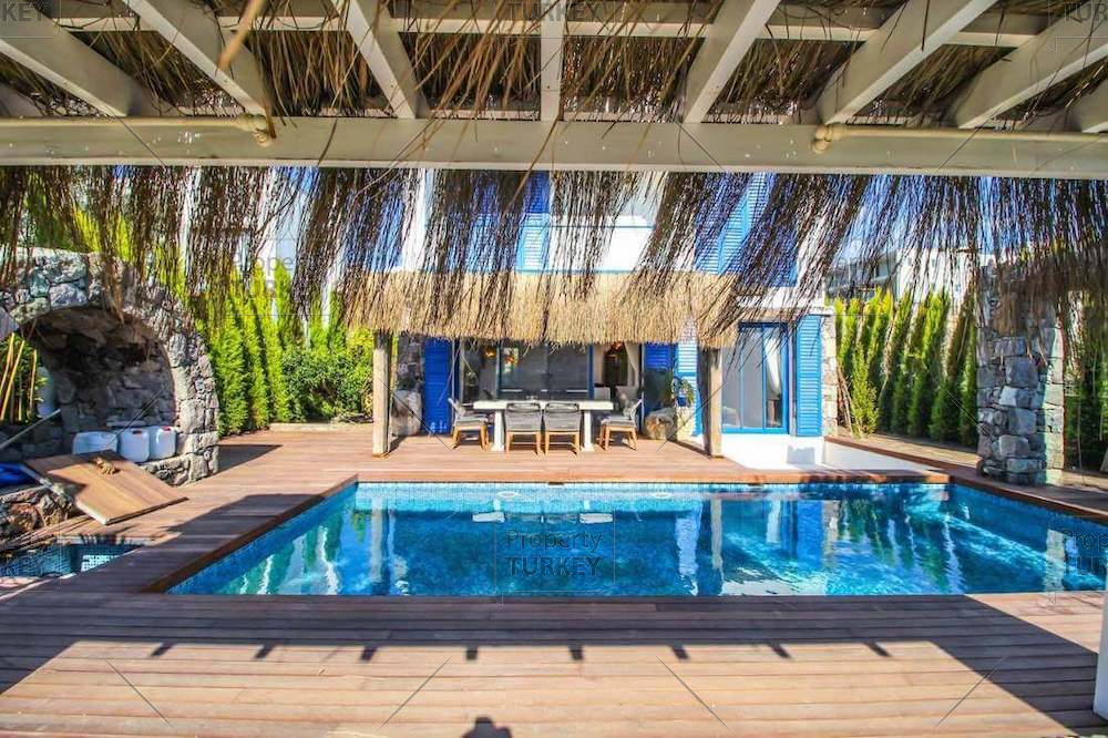 Unique Greek style villa for sale in Yalikavak