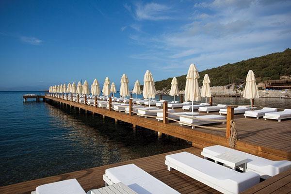 Bodrum beach platform