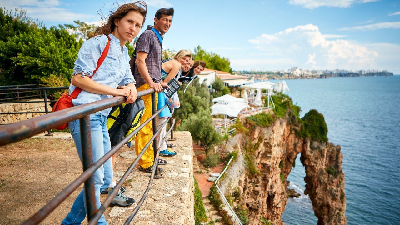 Tourists in Antalya, Turkey