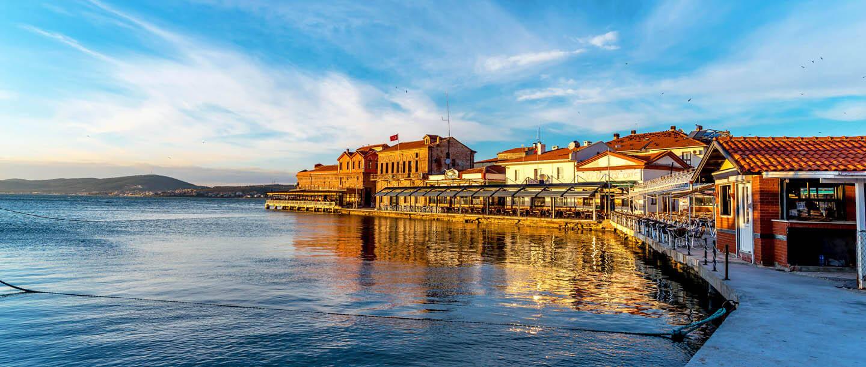 The beautiful seaside town of Ayvalik, Turkey.