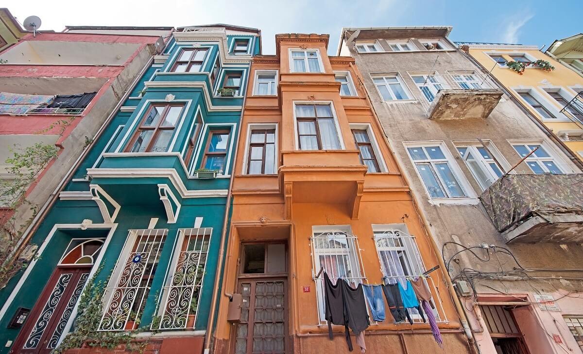 Balat houses Istanbul