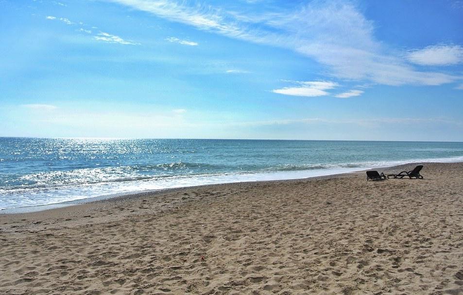 在土耳其的海滩