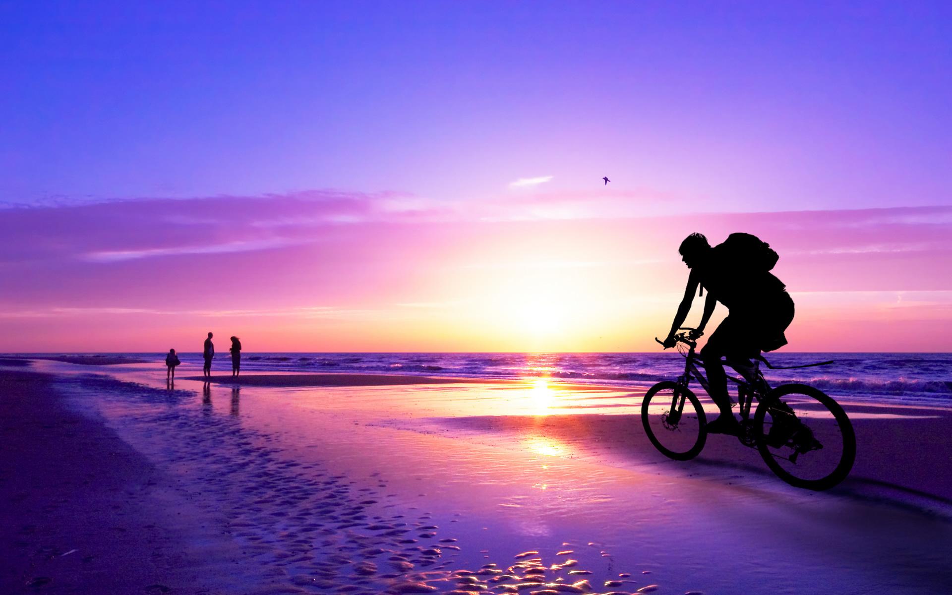 bicycle on beach, Turkey