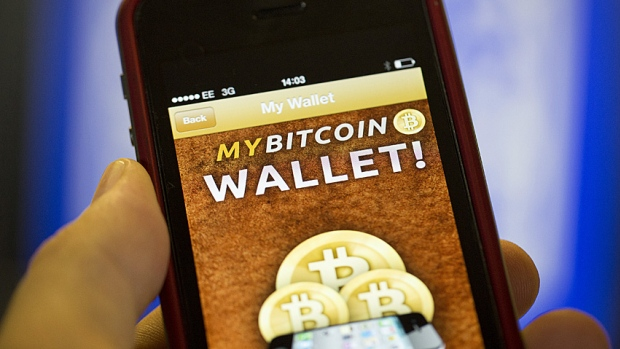 Bitcoins are stored in a digital wallet in the cloud, or on a user's computer