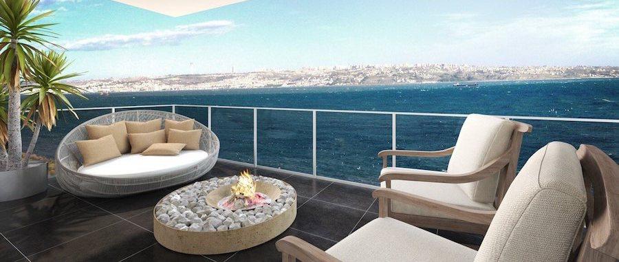 Квартира с видом на море в Стамбуле
