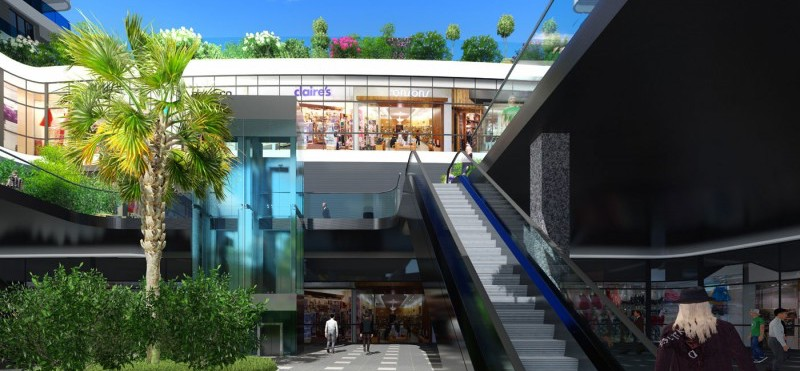 On-site shopping mall