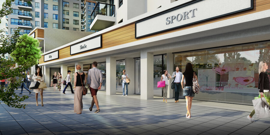 Commercial shops