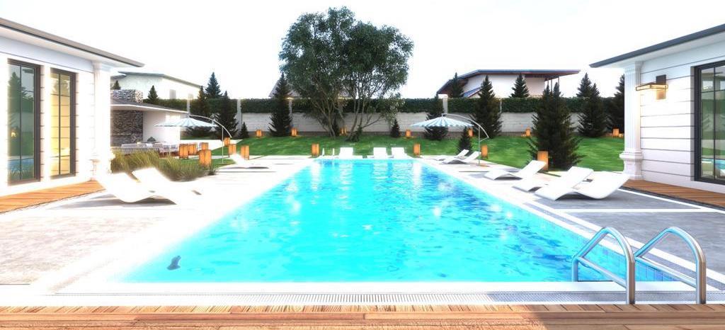 游泳池和院子
